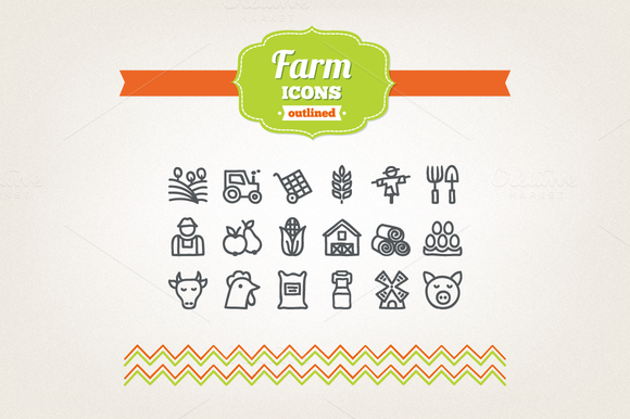 Hand Drawn Farm Icons