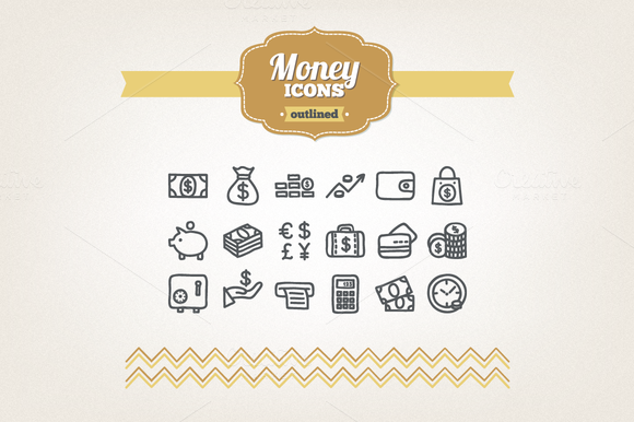 Hand Drawn Money Icons