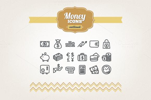 Hand Drawn Money Icons