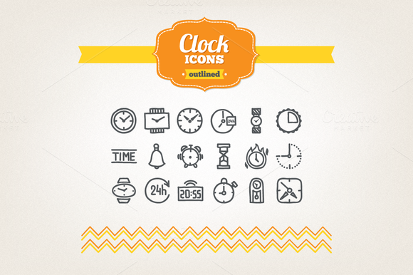 Hand Drawn Clock Icons