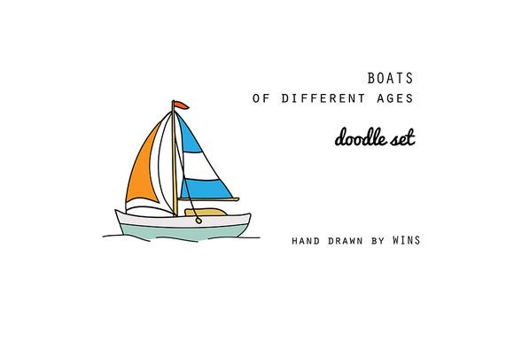 BOATS Doodle Set