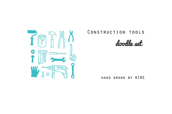 Construction TOOLS Doodle Set