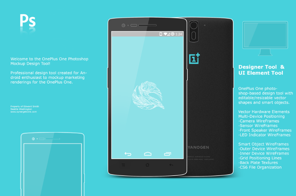 OnePlus One Android Mockup Concept