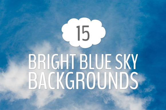 15 Bright Blue Sky Photo Backgrounds
