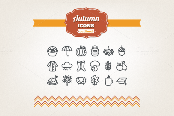 Hand Drawn Autumn Icons