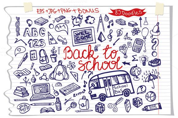Back To School Big Doodle Set
