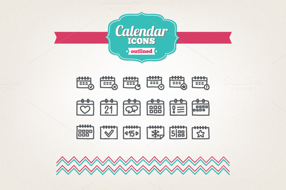 Hand Drawn Calendar Icons