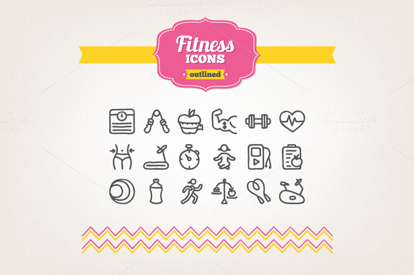 Hand Drawn Fitness Icons