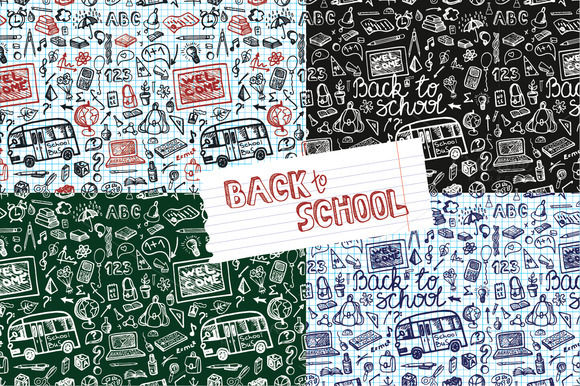 Back To School.Seamless Pattern