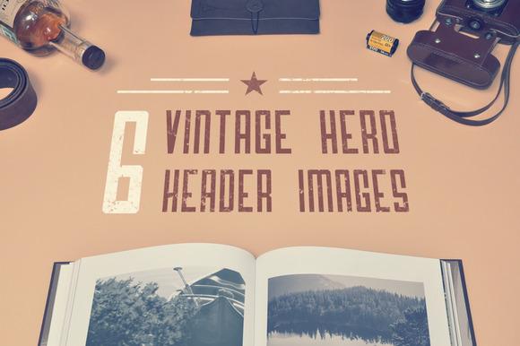 6 Vinage Hero Header Images Bonus