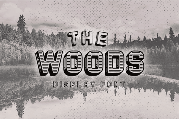 The Woods Display Font