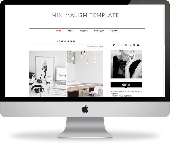 Minimalism Premade Blogger Template