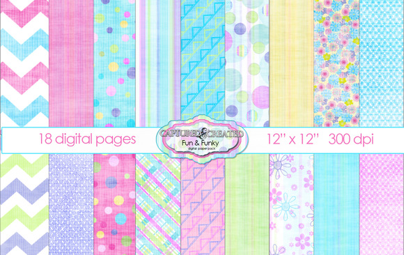 Fresh Fun Digital Paper Pack 18