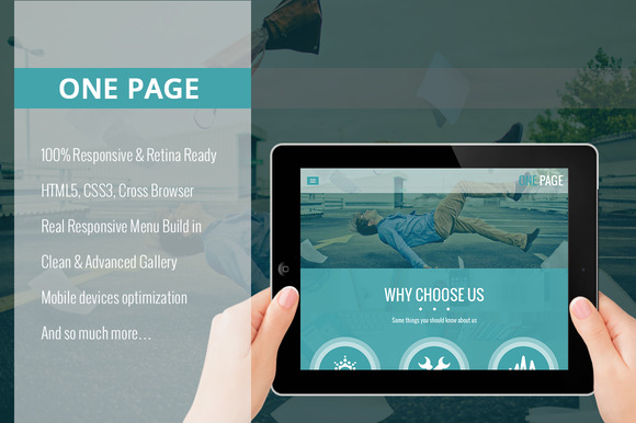 One Page WordPress Theme