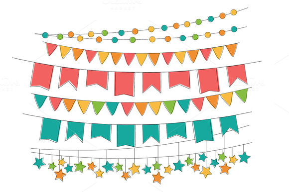 Hand Drawn Bunting Banners