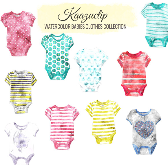 Watercolor Babies Clothes Collection