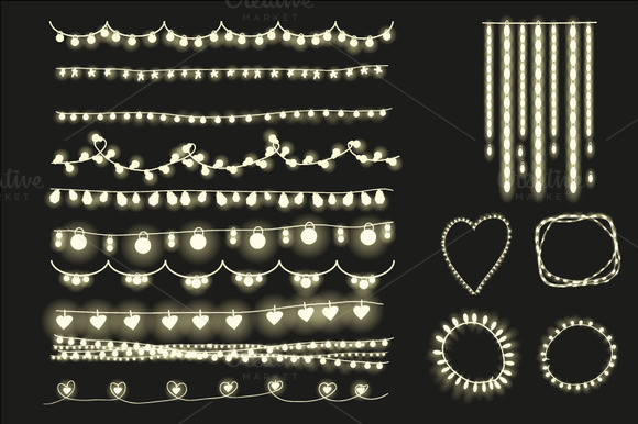 Fairy Lights Clipart String Lights