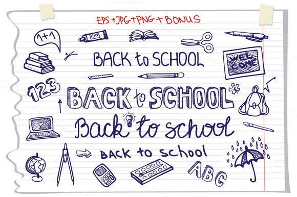 Back To School Lettering Supplies