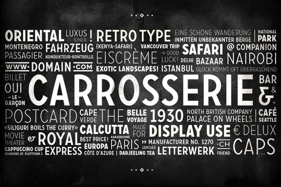 Carrosserie Typeface