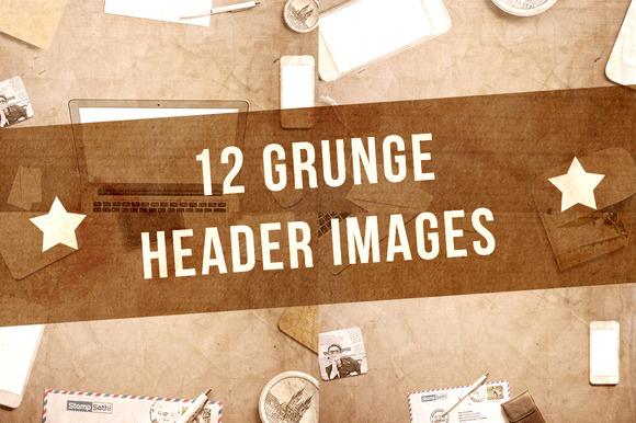 12 Grunge Header Images