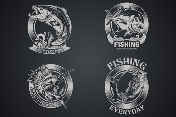 4 Fish Vector Dark And Light