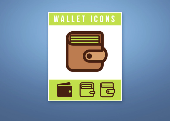 Set Of Wallet Vector Icons