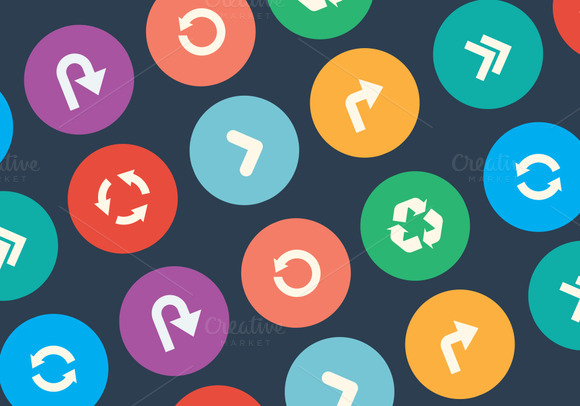 Set Of Vector Arrow Icons