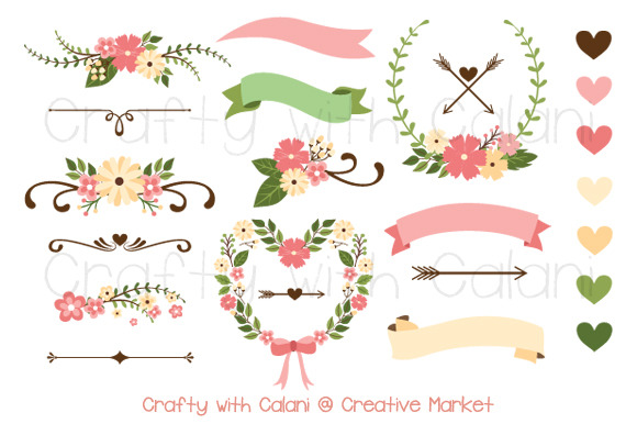 Pink Wedding Flower Clipart