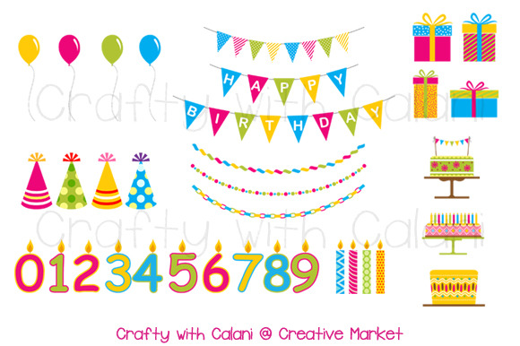 Children Birthday Party Clipart