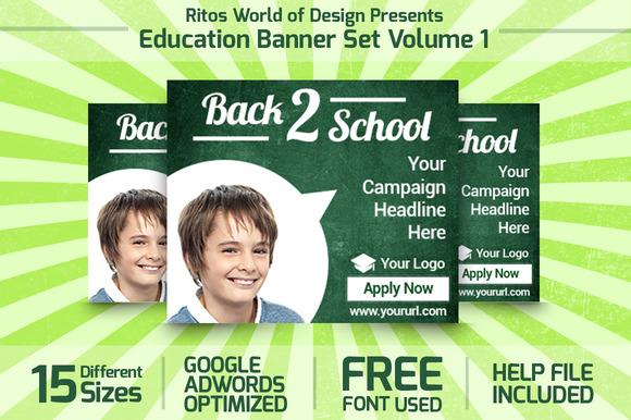 Education Banner Set Volume 1