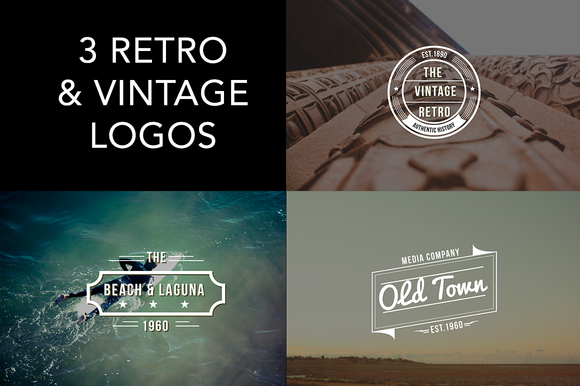 Retro Vintage Logo Badges