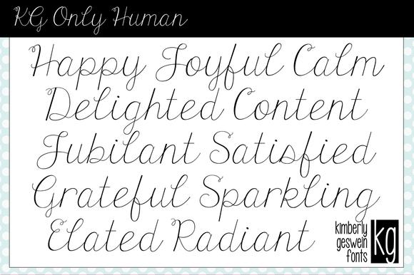 KG Only Human Font