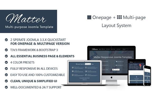 Matter-Multipurpose Joomla Template