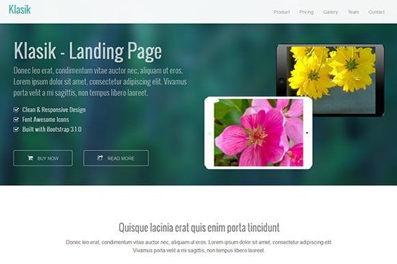 Klasik Landing Page