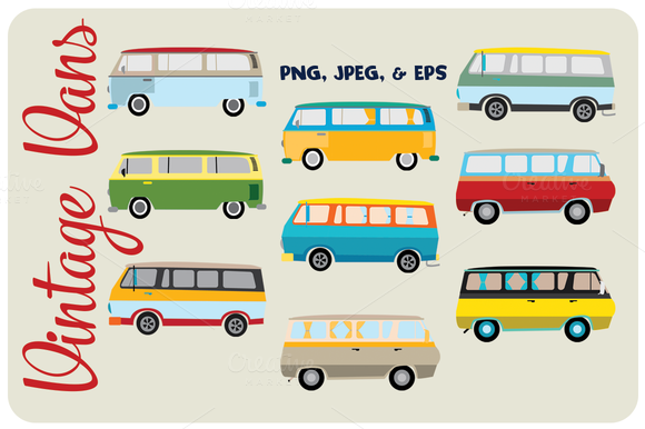 Vintage Van Illustrations