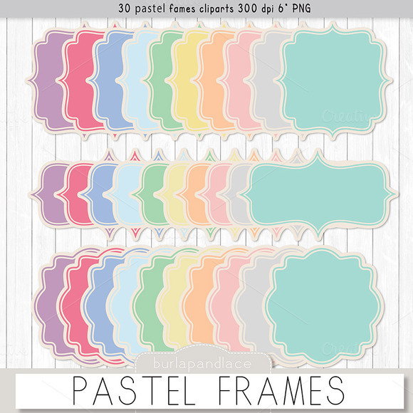 Paster Frames Rustic Background