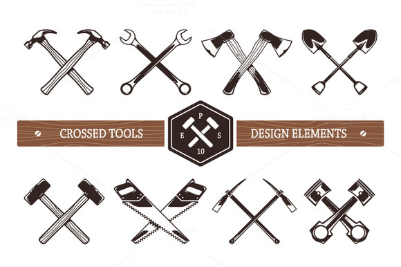Crossed Work Tools