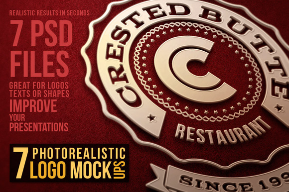 7 Photorealistic Logo Mock-Ups