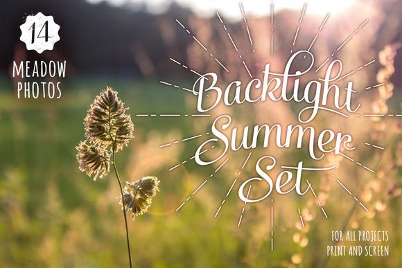 Backlight Summer Photo Set 14 HRs