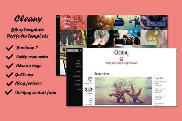 Cleany Blog Portfolio Template