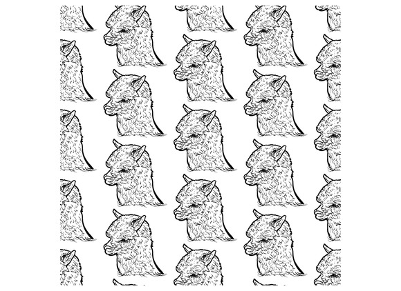 Seamless Pattern Of Alpaca