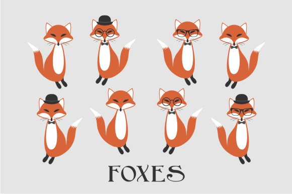 Foxes Woodland Animal Clipart
