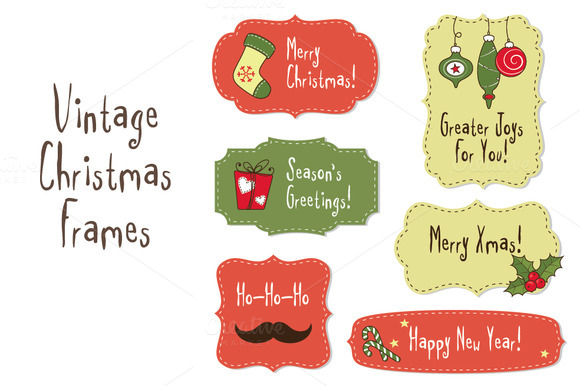 Vintage Christmas Frames