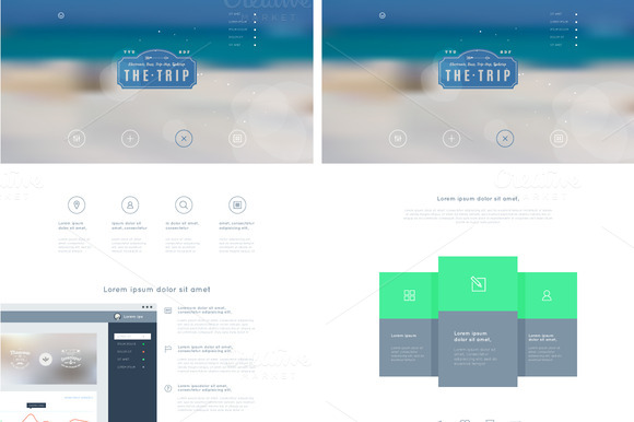 Landing Page In Flat Style
