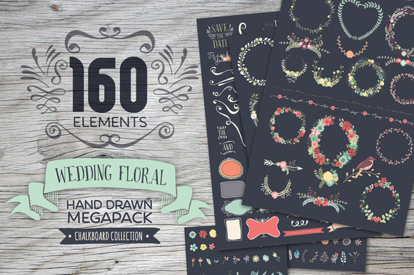 Chalkboard Floral Megapack
