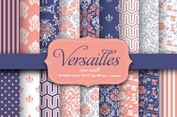 18 Versailles Style Papers Frames