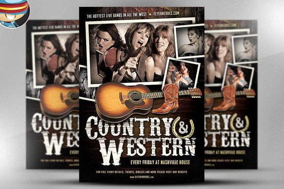 Country And Western Flyer Template 2