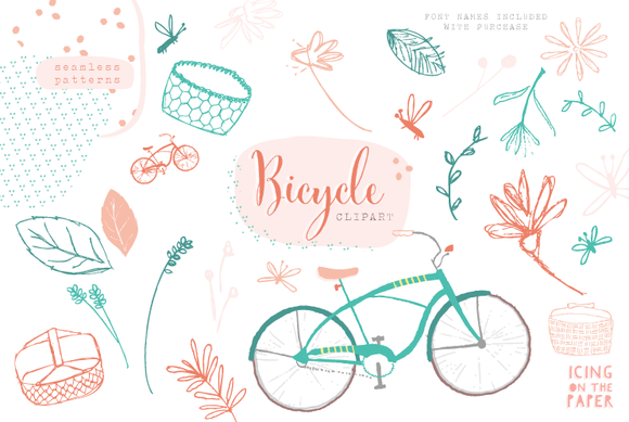Summer Bicycle Vector Clipart