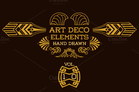 Organic art deco designtube creative design content - Deco vol ...