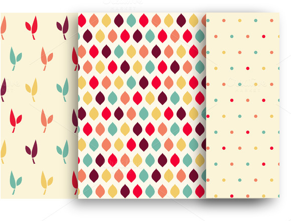 3 Vector Retro Geometric Patterns